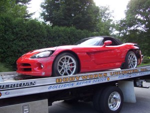 Dodge Viper Collision Repair at BodyWorks Unlimited in East Longmeadow