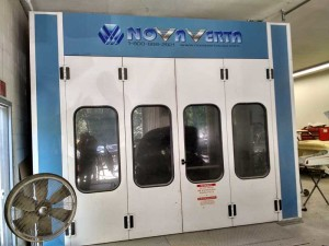NovaVerta spray booth at BodyWorks Unlimited - custom painting and collision repair